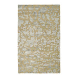 Gold and Silver Modern Rug from Safavieh - This is a great way to mix gold and silver elements in a room — a rug in both colors.