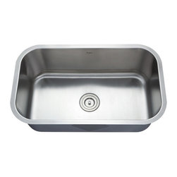 Kraus - Kraus 31 1/2 inch Undermount Single Bowl 16 Gauge Stainless Steel Sink Combo Set - Add an elegant touch to your kitchen with a unique and versatile undermount sink from Kraus