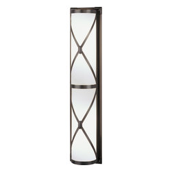Robert Abbey - Chase Wall Sconce - If you're looking for lighting that gently illuminates while complementing the understated chic of your favorite setting, look no further. This sconce has a frosted-white shade encased by crosses in your choice of a nickel, brass or bronze finish to make a simply elegant style statement.