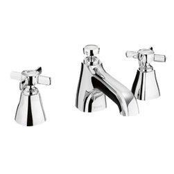 Toto - Toto TL970DDLQ Polished Nickel Guinevere Widespread Lavatory Faucet, 1.5 GPM - This Toto TL970DD#PN two handle widespread lavatory faucet is from the Guinevere Collection of Toto USA Faucets. It's traditional design adds a clean, modern style to any bathroom, and it comes in a Polished Nickel finish.