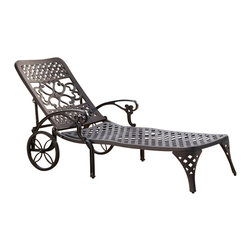 Home Styles - Home Styles Biscayne Black Chaise Lounge Chair - Home Styles - Patio Lounges - 555483 - Create an intimate conversation area with Home Styles Biscayne Chaise Lounge Chair