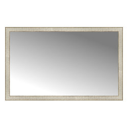 "Posters 2 Prints, LLC - 48"" x 30"" Libretto Antique Silver Custom Framed Mirror - 48"" x 30"" Custom Framed Mirror made by Posters 2 Prints. Standard glass with unrivaled selection of crafted mirror frames.  Protected with category II safety backing to keep glass fragments together should the mirror be accidentally broken.  Safe arrival guaranteed.  Made in the United States of America"