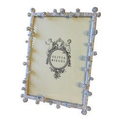 "Olivia Riegel - Olivia Riegel Silver Pave Odyssey Swarovski Crystal 5"" x 7"" Photo Frame - Olivia Riegel Silver Pave Odyssey Swarovski Crystal Photo Frame 5"" x 7"""