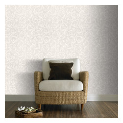 Graham & Brown - Swirl Wallpaper - Thick textured swirls will add a nice element to your walls. Paintable to match your decor.