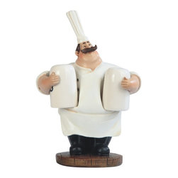 GSC - 6.5 Inch Big Chef with Big Hat Salt and Pepper Shaker - This gorgeous 6.5 Inch Big Chef with Big Hat Salt and Pepper Shaker has the finest details and highest quality you will find anywhere! 6.5 Inch Big Chef with Big Hat Salt and Pepper Shaker is truly remarkable.