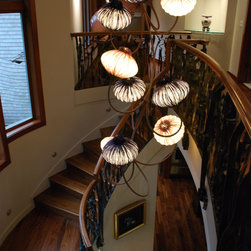 Pacific Northwest Seaside Home - Palm Beach Collection ceiling fixture by Aqua Creations