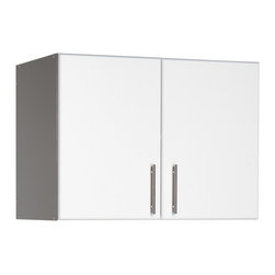 """Prepac - Prepac Elite 32 Inch Stackable Wall Cabinet in White - For laundry rooms, workshops and garages that need practical and versatile storage, the Elite 32"""" Stackable Wall Cabinet is the answer.  At 16 inches deep instead of the standard 12 inches and with one adjustable shelf, it offers both big storage and customization potential. Mount it directly to your wall or pair it with the Elite 32"""" Storage Cabinet for a total of 89 vertical inches of storage. What's included: Storage Cabinet (1)."""