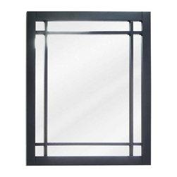 Lyn Design - Lyn Design Ming Modern 21 X 24 Black Mirror - Lyn Design Ming Modern 21 X 24 Black Mirror