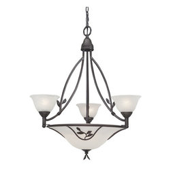 Designers Fountain - Designers Fountain 9284 Six Light Up / Down Lighting Chandelier from the Garland - Features: