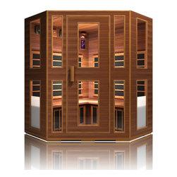 JNH Lifestyles Freedom 4 Person Corner Infrared Sauna - Product Description