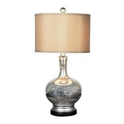 Mercury Glass Table Lamp - This mercury glass lamp screams glamour! And the price tag is oh-so sweet!