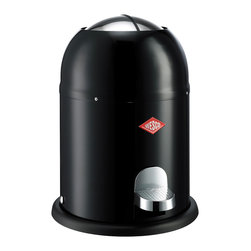 Wesco - Wesco Single Master Waste Can, Black - You don't mess around — even when it comes to messes. So keep this small, smart steel trash can anywhere (home office, kid's room, man cave). Its foot-pedal mechanism opens the top flaps for hands-free hygienic disposal — and the classic design just looks cool.