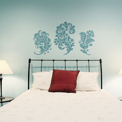 Paisley Damask Vinyl Wall Decals - Is your space missing that extra something? Accentuate your walls with our Paisley Damask Vinyl Wall Decal from Wallternatives. Display this set of 3 decals together or on their own!