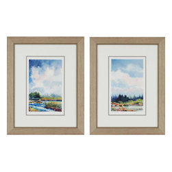 Paragon - Marsh/Riverbed PK/2 - Framed Art - Each product is custom made upon order so there might be small variations from the picture displayed. No two pieces are exactly alike.