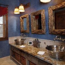 Rustic Bathroom by Design House, Inc