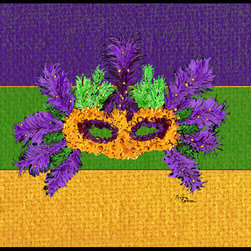 Caroline's Treasures - Mardi Gras Indoor Or Outdoor Mat 24X36 Doormat - INDOOR / OUTDOOR FLOOR MAT 24 inch by 36 inch Action Back Felt Floor Mat / Carpet / Rug that is Made and Printed in the USA. A Black binding tape is sewn around the mat for durability and to nicely frame the artwork. The mat has been permenantly dyed for moderate traffic and can be placed inside or out (only under a covered space). Durable and fade resistant. The back of the mat is rubber backed to keep the mat from slipping on a smooth floor. Wash with soap & water.