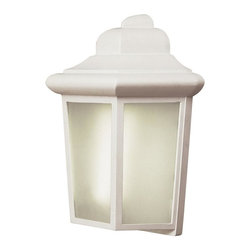 Joshua Marshal - One Light White Frosted Rectangle Glass Wall Lantern - One Light White Frosted Rectangle Glass Wall Lantern