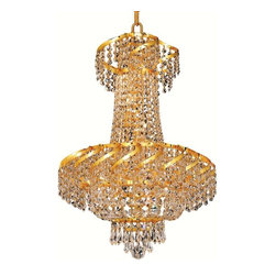 Elegant Lighting - Elegant Lighting ECA2D18 Belenus 6 Lights Chandelier - Featuring a graceful multi-tiered design and a cascading crystal body, these brilliant Belenus chandeliers bring decorative drama to any room setting.