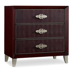 Hooker Furniture - Hooker Furniture Melange Pompeii Red Croc Chest 638-50113 - Come closer to Melange, and you will discover something unexpected, an eclectic blending of colors, textures and materials in a vibrant collection of one-of-a-kind artistic pieces.