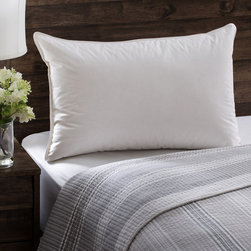 None - European Heritage Down Allure Hypoallergenic Medium Firmness White Down Pillow - This luxurious white down pillow is guaranteed hypoallergenic through unique double wash and quadruple rinse process. The plush down pillow lets you drift off to sleep in total comfort and relaxation.