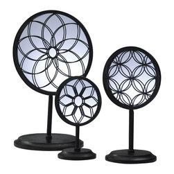 Cyan Design - Spirograph Mirror Stands - Spirograph mirror stands - black