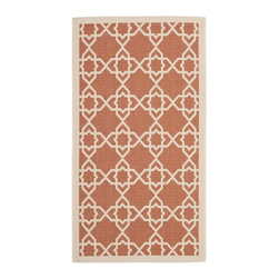 Safavieh - Safavieh Courtyard Transitional Rug X-3-142-2306YC - Safavieh takes classic beauty outside of the home with the launch of their Courtyard Collection. Made in Belgium with enhanced polypropylene for extra durability, these rugs are suitable for anywhere inside or outside of the house. To achieve more intricate and elaborate details in the designs, Safavieh used a specially-developed sisal weave.