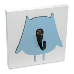 Homeworks Etc - Homeworks Etc Owl Single Wall Hook, blue - Decorative owl animal themed wall hook for the nursery and kids room.  Great for hanging towels, clothes, and more.