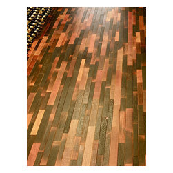 Fontenay - Fontenay Barrel Flooring - Wine Infusion ($20/sq. ft.), 24 Square Foot Bundle - Our Wine Infusion product represents the inside of the barrel where the wood has been naturally stained by the wine during the maturation process. Wine barrel flooring enhances the uniqueness of a wine cellar, bar, kitchen, restaurant or any application.