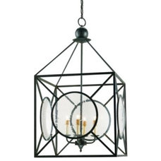 Outdoor Flush-mount Ceiling Lighting Beckmore Lantern by Currey and Company
