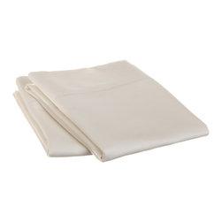 600 Thread Count Cotton Rich Standard White Pillowcase Set - Cotton Rich 600 Thread Count Standard White Pillowcase Set