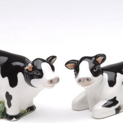 ATD - 1.5 Inch Black and White Mini Cows Salt and Pepper Set - This gorgeous 1.5 Inch Black and White Mini Cows Salt and Pepper Set has the finest details and highest quality you will find anywhere! 1.5 Inch Black and White Mini Cows Salt and Pepper Set is truly remarkable.