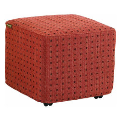 Lexington - Tommy Bahama Canberra Surf & Sand Ottoman - Four casters under the metal frame make moving the ottoman under the 3140-944 Cocktail Table ideal for tucking away or for creating additional seating. Additional slip covers may be purchased separately, customized of course.