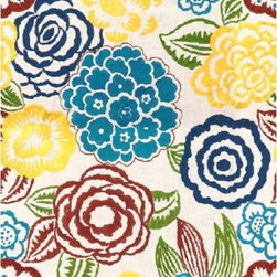 Groundworks - Nolita - Nolita is beautiful embroidered floral  pattern by Groundworks and comes in 5 color-ways.