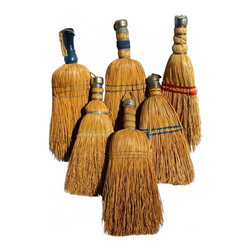 Whisk Broom Collection - They look great hung on hooks in the laundry room or grouped together in a bucket like country flowers.  Each one is different and has its own vintage personality.