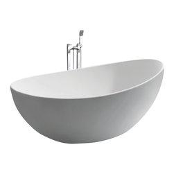 ADM - ADM Free Standing Stone Resin Bathtub, Glossy - Free Standing Solid Surface Stone Resin Bathtub. Made in the UK.