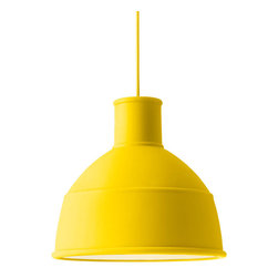 Unfold Pendant Lamp - There's nothing like a yellow pendant spotlight to mimic the sun shining down.