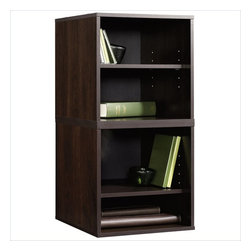 Sauder - Sauder Beginnings Transitional 2 Pack Cube in Cinnamon Cherry - Sauder - Bookcases - 413048