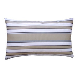 Jiti Pillows - Hampton Rectangle Pillow - Features: -Material: 100% Polyester. -Color: Robin. -100% Fiber insert. -Knife edge. -Removable cover. -Safe for outdoor use. -Machine wash. -Low tumble dry. -Made in the USA.