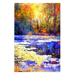 Blue Autumn Photograph - Photograph with digital painting. Available on metal in editions of 200. The next available edition number will be shipped.