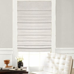 Laura Ashley Soft Fold Roman Shades in Casualle Milk - Introducing the Laura Ashley Soft-Foldd Roman Shade Collection from Blinds.com. Laura Ashley Soft-Fold Roman Shades use overlapping and equal spaced folds to create a classic look that you can use to  enhance your traditional or contemporary room decor.