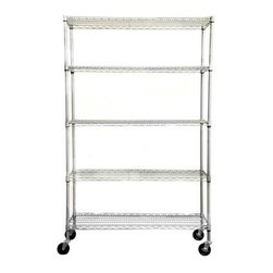 Trinity - Trinity 5-Tier NSF Outdoor Wire Shelving Rack, 48 by 18 by 77 Inches, Gray T - Shop for Storage & Organization at The Home Depot. TRINITY's NSF certified commercial-grade outdoor wire shelving rack is perfect for any outdoor or indoor use. Assembly requires no tools. Rack uses a slip-sleeve locking system which allows shelves to be adjusted in 1in. increments.