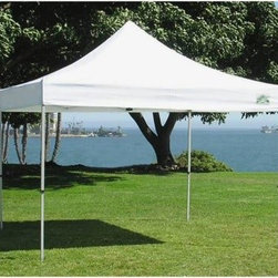 Caravan Canopy® 10 x 10 Traveler 500 Denier Commercial Canopy - The Caravan Commercial Sport Canopy offers a remarkable combination of performance and portability. You'll enjoy complete canopy functionality for any occasion whether you're using it for commercial or leisure applications. A lightweight aluminum frame weighs 30% less than steel canopies of comparable size and a powder-coated finish resists rust scratches and corrosion. The 500-denier polyester canopy offers premium durability and 100% UV protection so you can count on shade when and where you need it.Speaking of where this canopy is engineered for simple setup and takedown which translates directly to portability. It folds down to a size small enough to fit in most car trunks so you can easily take it with you. Want to keep the bugs at bay? See below for enclosure accessories that will keep your canopy interior insect-free!