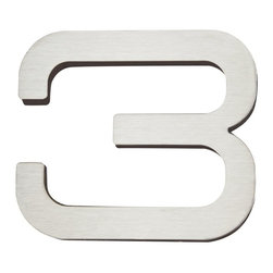 Atlas Homewares - Atlas Homewares Paragon Stainless Steel 4 in. House Number - 516939 - Shop for Address Numbers Letters and Plaques from Hayneedle.com! The modern home deserves a matching set of house numbers like the Atlas Homewares Paragon 4 in. House Numbers. These brushed stainless steel numbers feature bold modern lines a weatherproof lacquer finish and double-sided industrial adhesive for application. Order each number individually.About Atlas HomewaresBased in Los Angeles this small American company makes the small things that complete your home the old-fashioned way. With house numbers drawer pulls doorknobs and much more made from metal in well-studied traditional and contemporary styles they have what you need to complete your home. If you like the idea of buying your details from a company that cares about them look no further than Atlas Homewares.