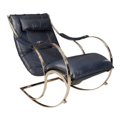 Leather and Chrome Rocking Chair - This vintage little rocker rocks my world. It's a cool, fun way to add a pop of color without being too bold.