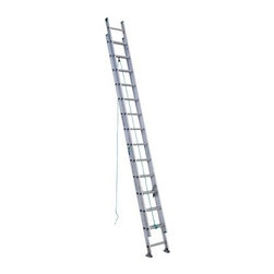 Werner D1228-2 28 ft. Aluminum Extension Ladder - Whether working residential or commercial jobs, the Werner D1228-2 28 ft. Aluminum Extension Ladder offers a safe and stable way to get to hard to reach tasks. Its heavy duty aluminum construction makes it durable and easy to transport. A smooth operating pulley system and spring loaded locks makes for easy extension. Traction Tred D-rungs offer sure footing while Alflo technology offers twist-free and stable use.About WernerWerner is an industry leader that has manufactured and distributed ladders and climbing equipment for over 60 years. Werner ladders are found on more trucks and job sites than all other brands combined. Each product offers a state-of-the-art design and manufacturing process, creating professional-grade products that are made to be utilized in the home as well as on the job site. Werner Co. products are built to meet or exceed all applicable American National Standards Institute (ANSI) and Occupational Safety and Health Administration (OSHA) code requirements.