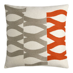 DNA Hand-Embroidered Chain Stitch Pillow - I tend to switch out pillows with some frequency, but I don't imagine I'd tire of this abstract print from Judy Ross Textiles for a long while. And since it's made from soft wool, it likely feels as good as it looks.