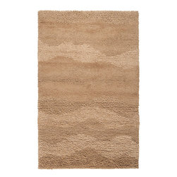 Surya - Topography Driftwood Brown Rug - Features: -Technique: Woven.-Origin: India.-Construction: Handmade.-Collection: Topography.-Distressed: No.-Collection: Topography.Specifications: -Material: 100% Wool.Dimensions: -Overall Product Weight: 6 lbs.