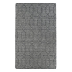 Kaleen - Kaleen Imprints Modern IPM03 (Grey) 8' x 11' Rug - Imprints Modern, where textiles meet fashion. Modern textile designs and today's hottest colors combine to meet the new evolution of this beautiful collection. Straight off the runway and into your home each rug is handmade in India of 100% Virgin Wool.