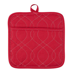 KAF Home - Neoprene Pot Holder - Cherry, Set of 4 - Our neoprene Pot Holders are stylish, comfortable, and safe. Available in a variety of striking colors, these Pot Holders are perfect for handling anything that can go in the oven. The neoprene grip offers a firm hand hold on any dish.