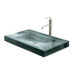 KOHLER - KOHLER K-2369-B11 Antilia Wading Pool Glass Countertop Lavatory - KOHLER K-2369-B11 Nature's Chemistry: Antilia Wading Pool Glass Countertop Lavatory